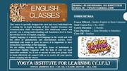 SPOKEN ENGLISH & BASICS OF ENGLISH GRAMMER CLASSES