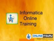 informatica online training | informatica training | OnlineITGuru