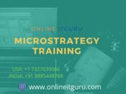 microstrategy dossier training | OnlineITGuru